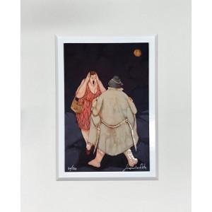 Mimmo Sciarrano - serigrafia - Marina di Positano